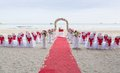 Wedding venue on the beach Royalty Free Stock Photo