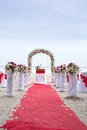 Wedding venue on the beach huahin thailand Royalty Free Stock Images