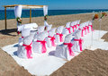 Wedding venue on the beach in mojacar almeria province andalusia spain Stock Photos