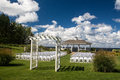 Wedding venue a beautiful lakeside Stock Photography
