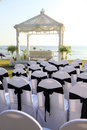 Wedding venue ceremony set up at a destination travel and tourism Royalty Free Stock Images