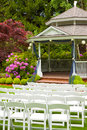Wedding Venue and Chairs Stock Photos