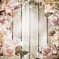 Wedding vintage romantic backgroundwith roses Stock Photography