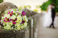 Wedding white and pink bouquet beautiful with delicate flowers Royalty Free Stock Photos