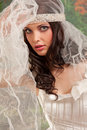 Wedding woman portrait Stock Images