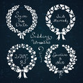 Wedding wreath set vector illustration Royalty Free Stock Image