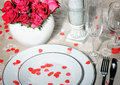 Weddings place setting decorated close up Stock Photography