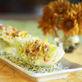 Wedge salad on a plate Royalty Free Stock Image