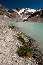 Wedgemount lake glacier near whistler Royalty Free Stock Photo