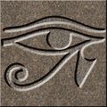 Eye of Horus chiseled in granite Royalty Free Stock Photo
