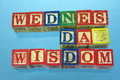 Wednesday wisdom Royalty Free Stock Photo