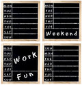 Week Agenda on Chalkboard Royalty Free Stock Photo