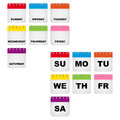 Week days calendar icons Royalty Free Stock Photo