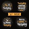 Weekdays motivation quotes big set.