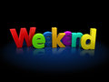 Weekend d illustration of text over black background Royalty Free Stock Photos