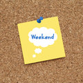 WEEKEND Royalty Free Stock Photo