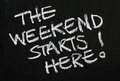 The Weekend Starts Here! Royalty Free Stock Photo