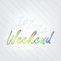 Weekend typography background in retro style with zzz and label Royalty Free Stock Images