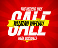 Weekend wipeout sale design mega discounts Stock Images