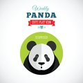 Weekly Panda Cute Flat Animal Icon - Surprised