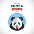 Weekly Panda Cute Flat Animal Icon - Tongue Out