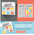 Weekly Sale Ad Flyer Graphics Royalty Free Stock Photo