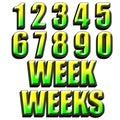 Weeks days design Royalty Free Stock Photo