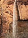 Weeping Rock Waterfall Zion Canyon Utah Royalty Free Stock Image