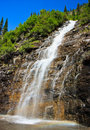 Weeping Wall, Glacier National Park, Montana Royalty Free Stock Images