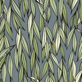 Weeping willow. Hand drawing. Seamless decorative pattern