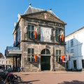 Weigh house museum on market square in gouda holland goudse waag the old cheese now the city of netherlands Royalty Free Stock Photography