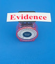 Weighing the evidence Royalty Free Stock Photo