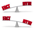 Weighing Fact and Myth Set Royalty Free Stock Photo