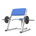 Weight bench for bizeps Royalty Free Stock Photos