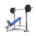 Weight bench for chest angular Royalty Free Stock Photos