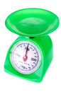 Weight gage scale old green on white background Stock Photos