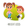 Weight loss medical concept. Vector illustration.
