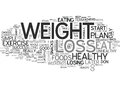 A Weight Loss Plan For Success Word Cloud Royalty Free Stock Photo