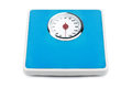 Weight scale bathroom isolated on a white background Stock Image