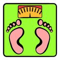 Weight scale icon, icon cartoon
