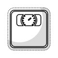 Weight scale isolated icon