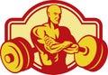 Weightlifter Body builder weights Stock Photos