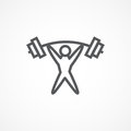 Weightlifter Icon Royalty Free Stock Photo