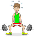 Weightlifter during training vector illustration of a Royalty Free Stock Images