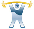 Weightlifting barbell icon strong illustration Stock Image