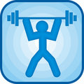 Weightlifting icon Stock Photography