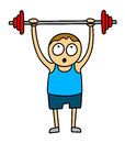 Weightlifting kid Stock Images
