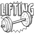Weightlifting sketch Royalty Free Stock Photos