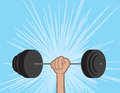 Weights held by hand up Royalty Free Stock Photography
