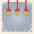 Weihnachts-/Winterhintergrund - Klingelglocken. Stockfotografie